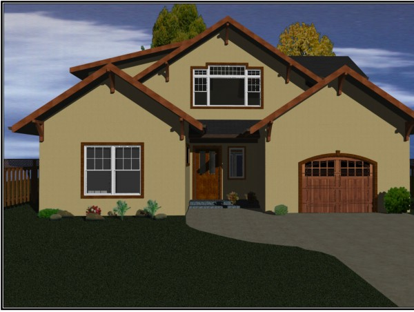 Golden Visions Design: Front-View-Rendering