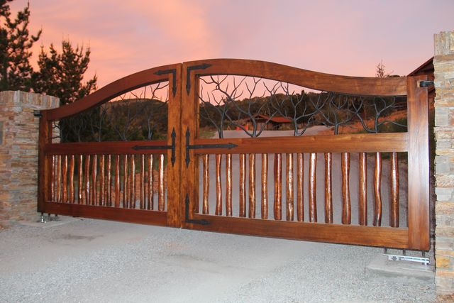 A-1 Overhead Door Co. Gate at sunset