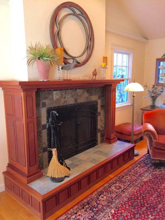 Live Oak Design: Santa Cruz fireplace mantle