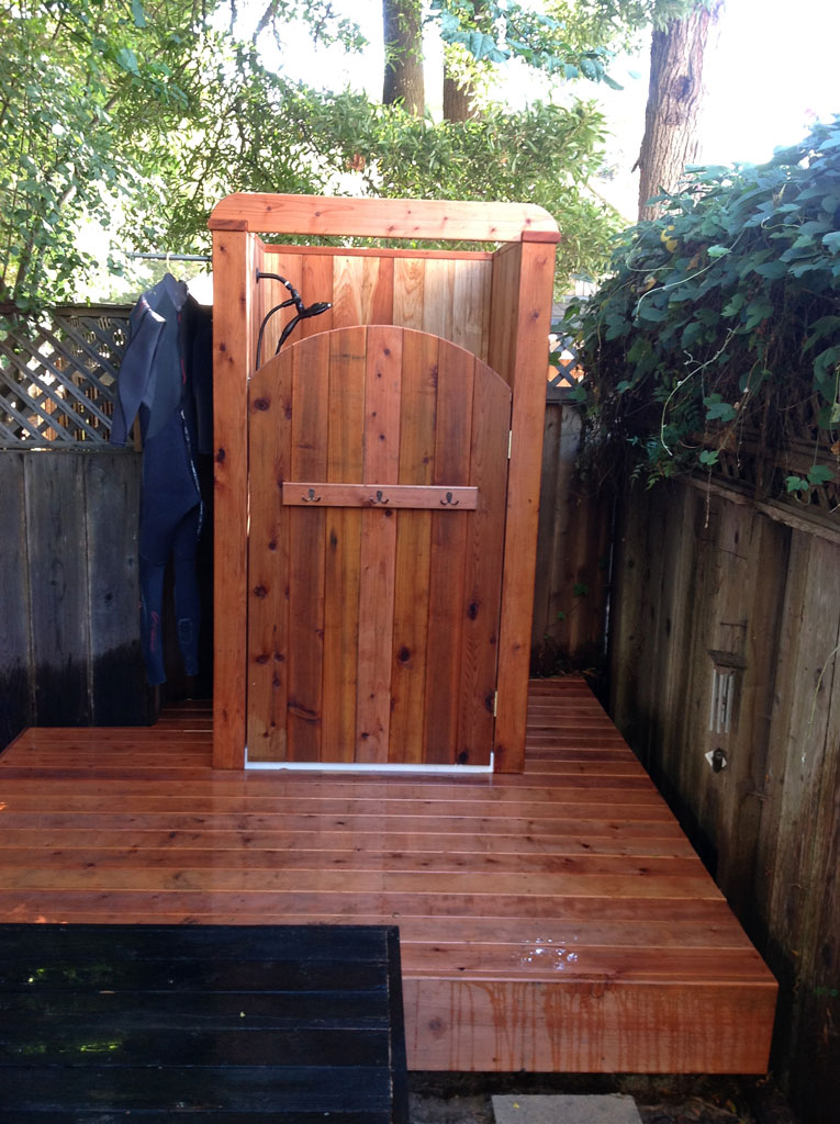 Santa cruz county builders inc santa cruz construction for Outdoor shower doors