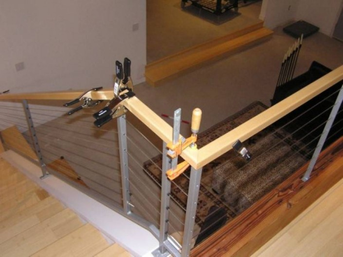 Mazzei Construction : Hand Built Maple Banister