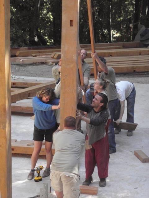 Santa Cruz Timberframes: Post Raising