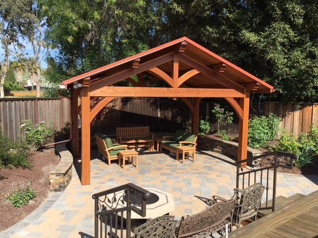 Santa Cruz Timberframes: Pergola Built with Sel. Struct. Redwood