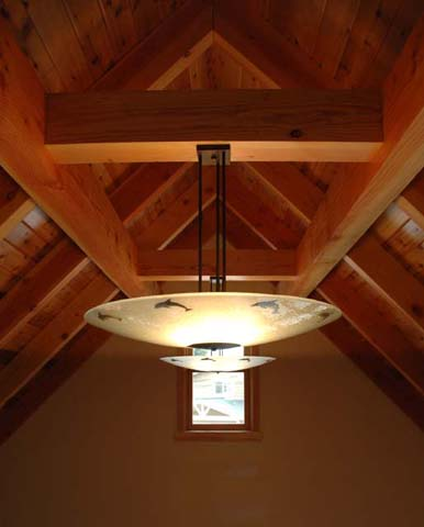 Dovetail Construction: ceiling detail