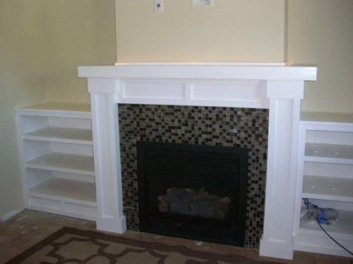 Mazzei Construction : Fireplace Mantlepiece & Bookeshelf