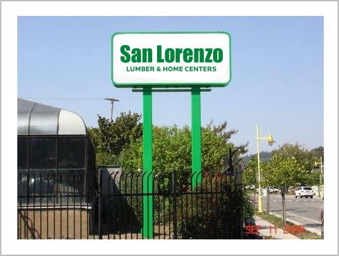 San Lorenzo Lumber: Sign