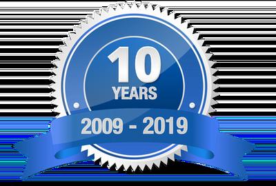 10 year badge