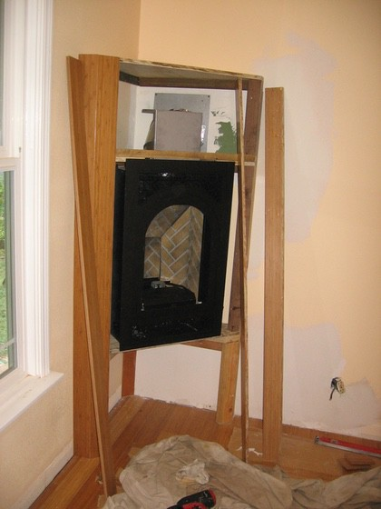 Ray Newkirk Outside the Box Builders: Bamboo fireplace in progress