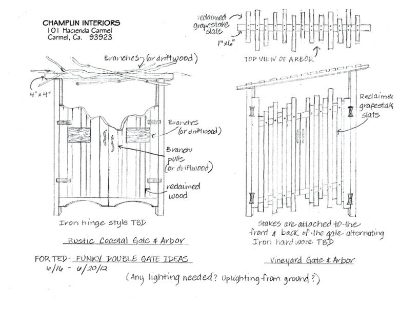 Champlin Interiors: Funky gate designs