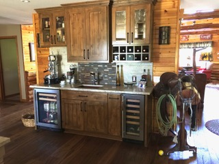 Champlin Interiors: Rustic Western Wet Bar