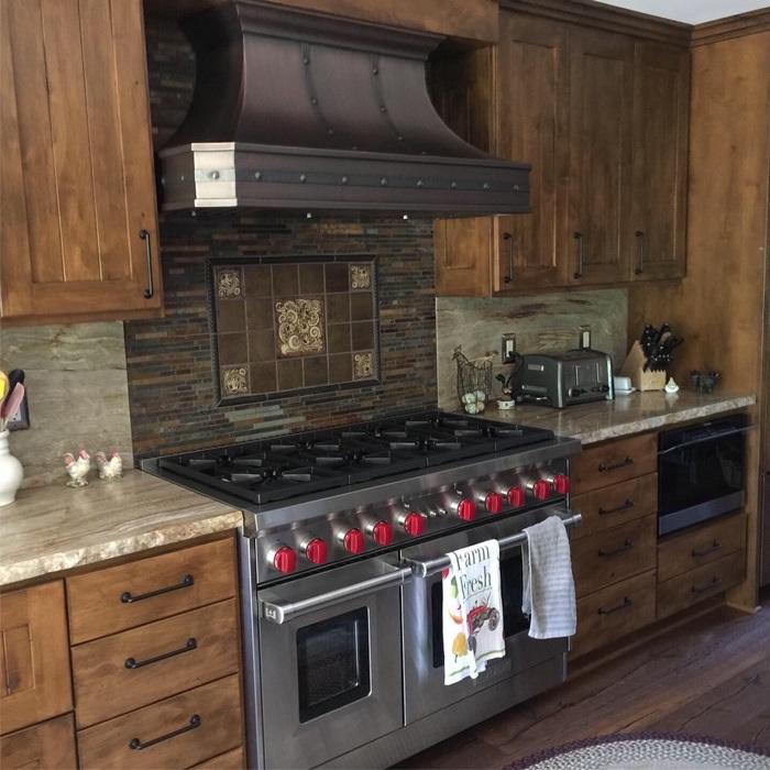 Champlin Interiors: Rustic Western kitchen