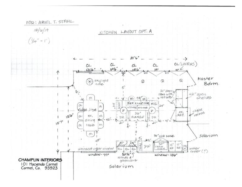 Champlin Interiors: Stahl kitchen layout