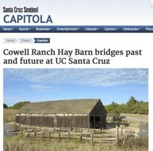 Cowell Ranch Hay Barn bridges past and future at UC Santa Cruz
