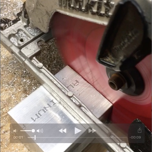 Video: Cutting through a solid block of aluminum by Dean Mazzei