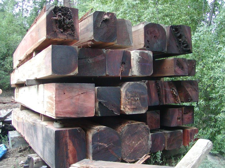 David Smith Redwood Portable Sawmill Redwood Cants