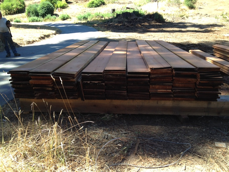 David Smith Redwood Portable Sawmill Redwood Dry 1x12