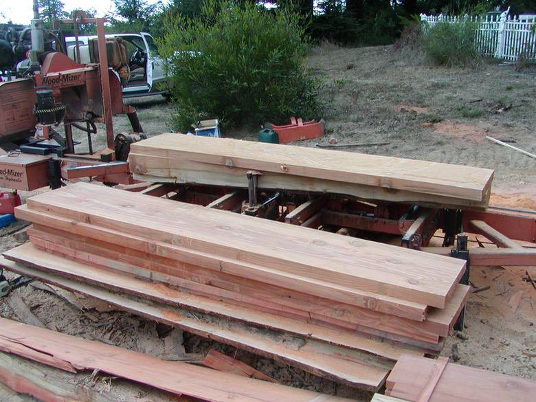 David Smith Redwood Portable Sawmill Redwood Slabs