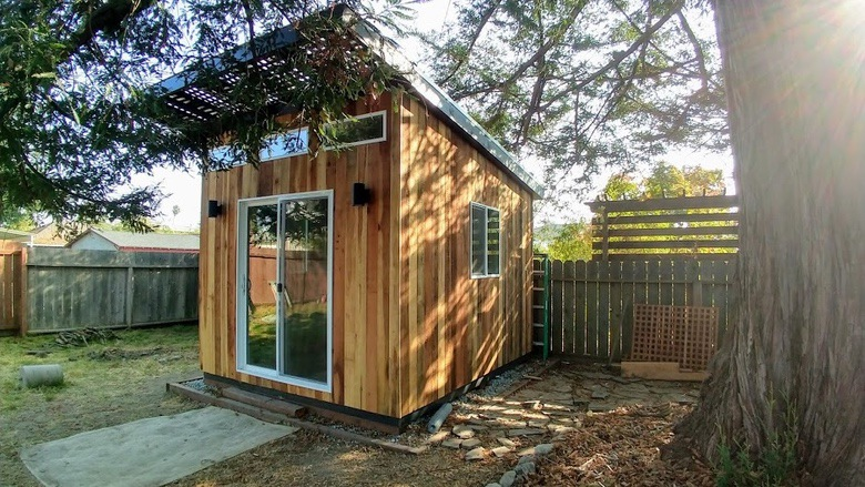 David Smith Redwood Portable Sawmill Rustic Shed