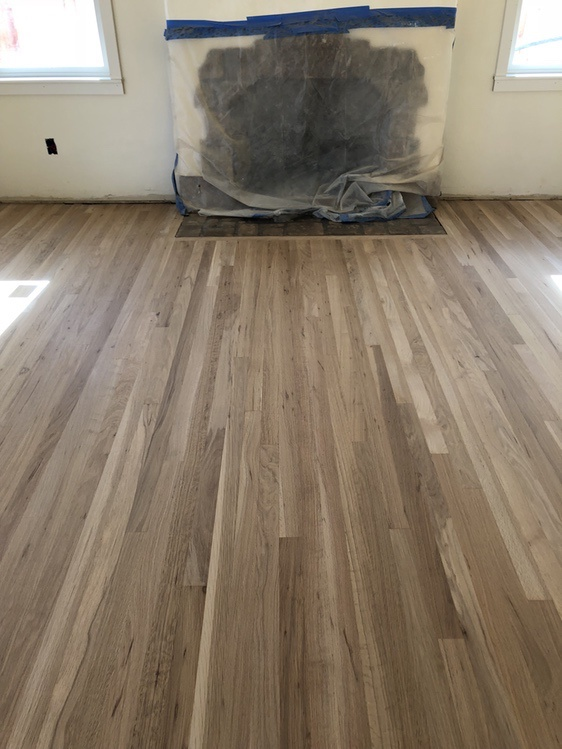 Samaya's Eco-Flooring: Getting ready for a water based finish