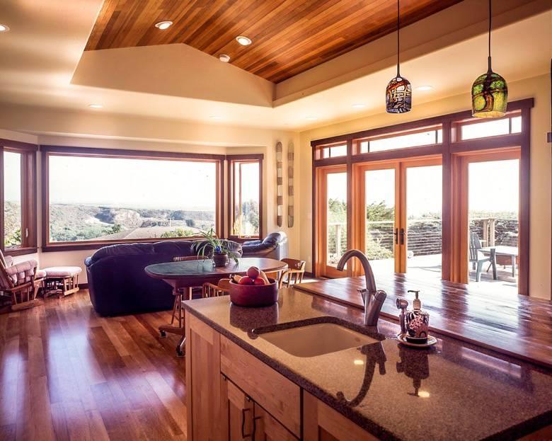 Golden Visions Design: Coffered Ceiling Kitchen - Davenport, CA