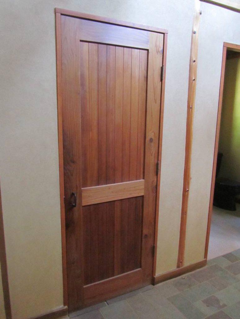 Santa Cruz Timberframes: Custom redwood two panel door