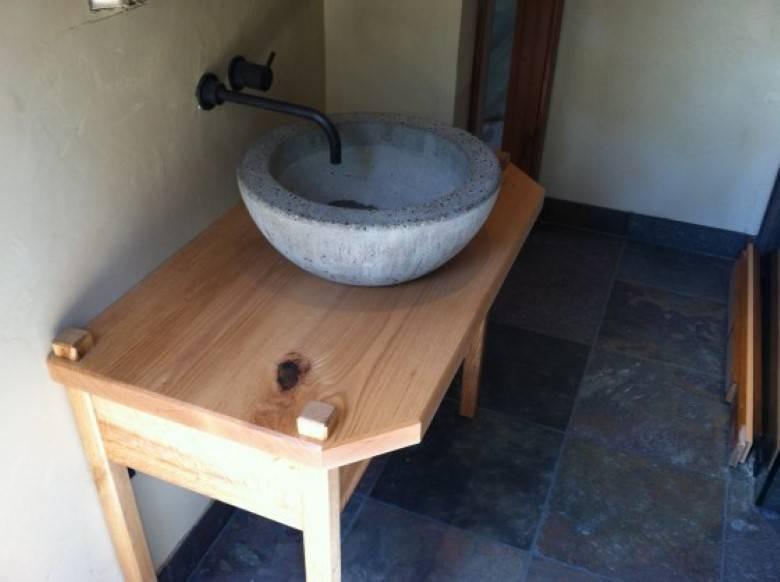 Mazzei Construction : hand cast concrete sink