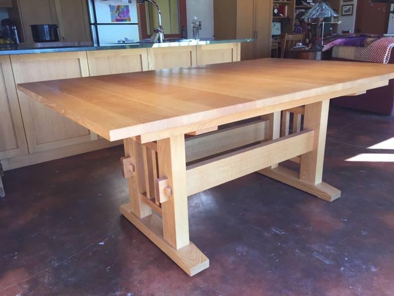 Live Oak Design: Custom white oak table