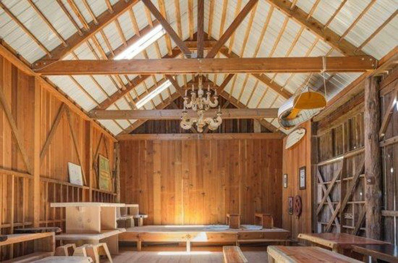 Out of the Woods: Interior Rough Redwood Paneling