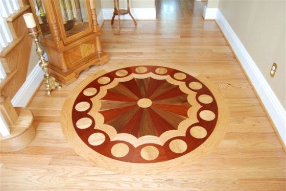 Chris Haltom Hardwood Floors: MedallionRedOakFloor