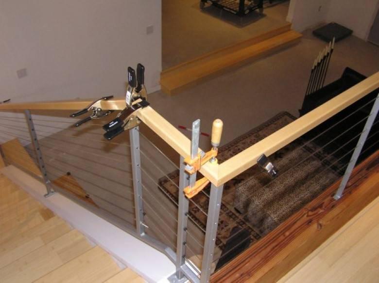 Mazzei Construction : Hand Built Maple Banister