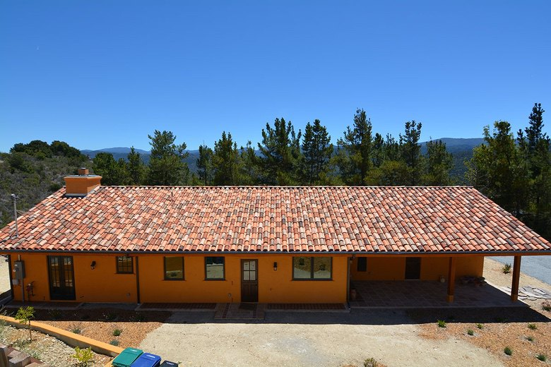 Premo Roofing: staggered application of Redlands two piece mission tile