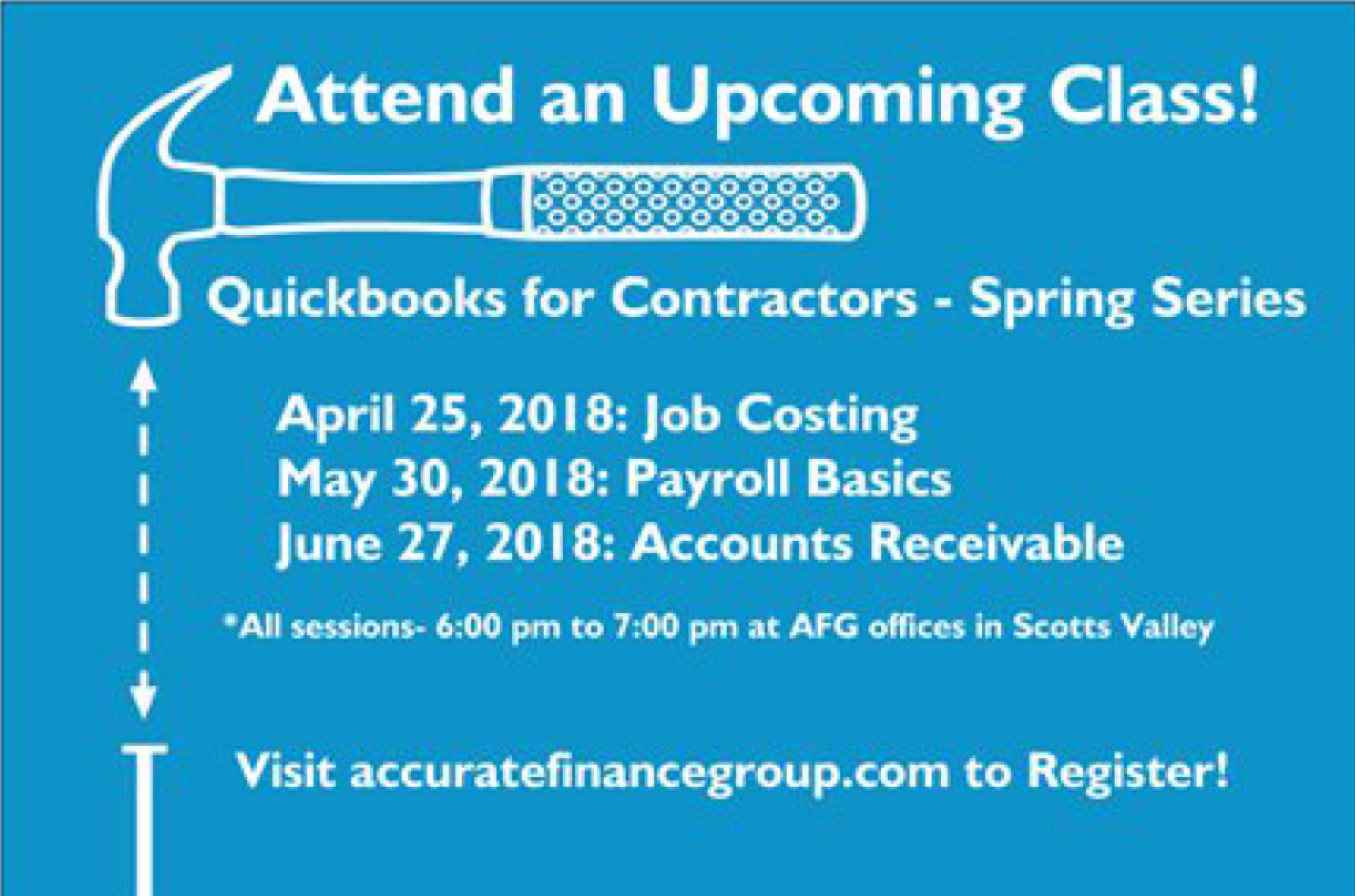 Accurate Finance Quickbooks For Contractors