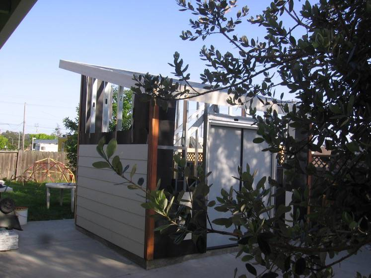 Ray Newkirk Outside The Box Builders: TERMITE PROOF STEEL STUD SHED WITH HARDIE SIDING & STEEL DOORS FOR SANTA CRUZ TODDLER CARE CENTER