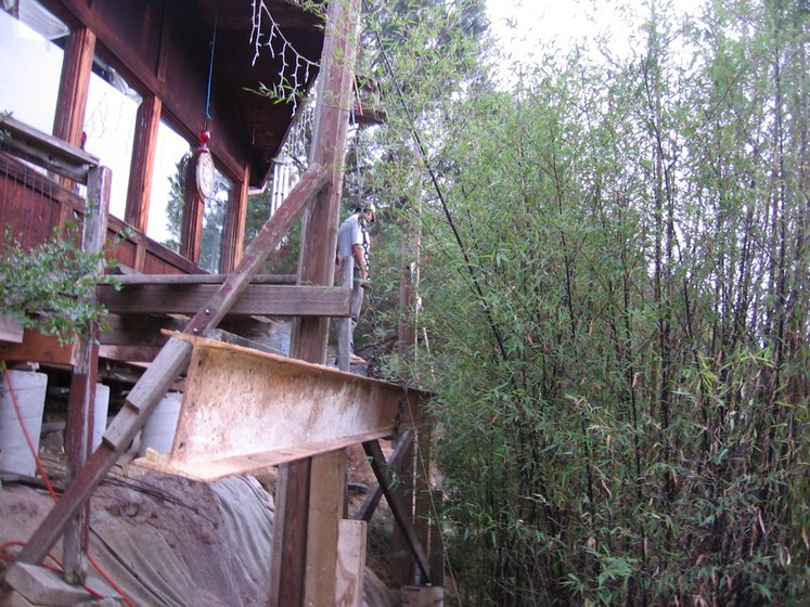 Ray Newkirk Outside the Box Builders: Recycled i-beam building one solid deck