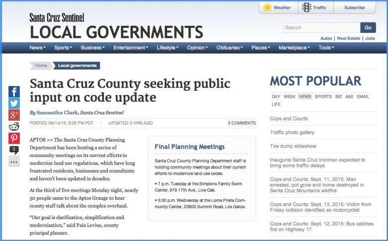 Santa Cruz Sentinel l Sept 15, 2015