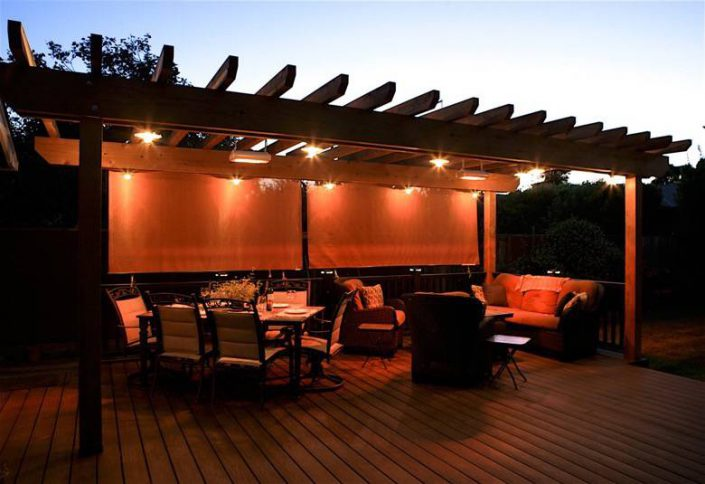 Santa Cruz Design + Build: deck dining