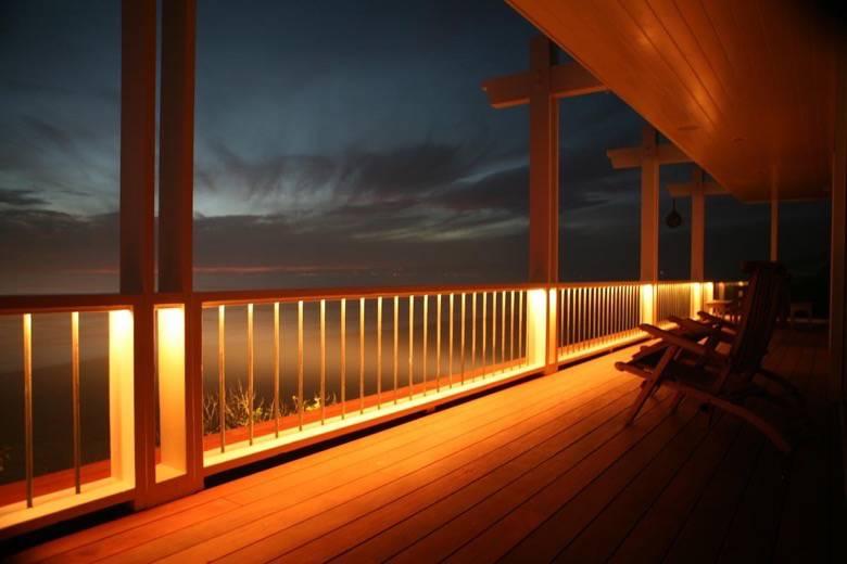 Santa Cruz Design + Build: ocean view railing
