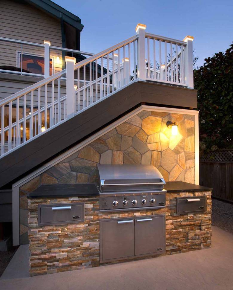 Santa Cruz Design + Build: outdoor BBQ