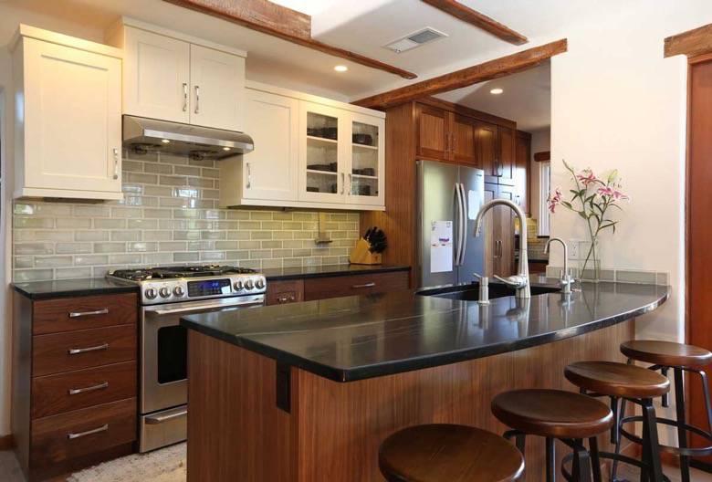 Santa Cruz Design + Build: rustic kitchen
