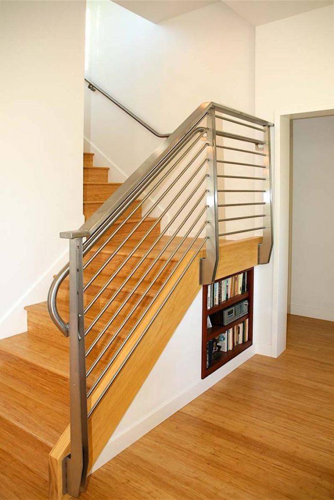 Santa Cruz Design + Build: stainless steel railing