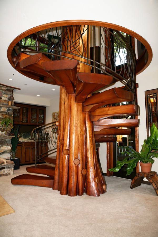 Santa Cruz Design + Build: tree stairway