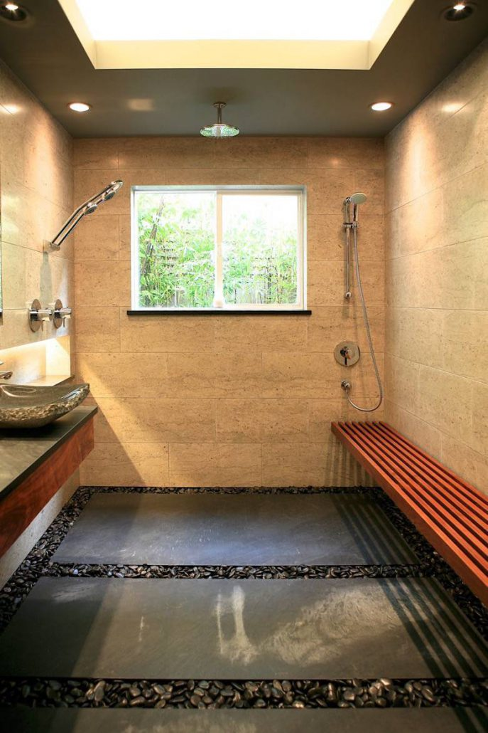 Santa Cruz Design + Build: zen bathroom