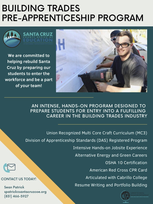 Santa Cruz County Office Of Education Construction Technology/Pre Apprenticeship Program