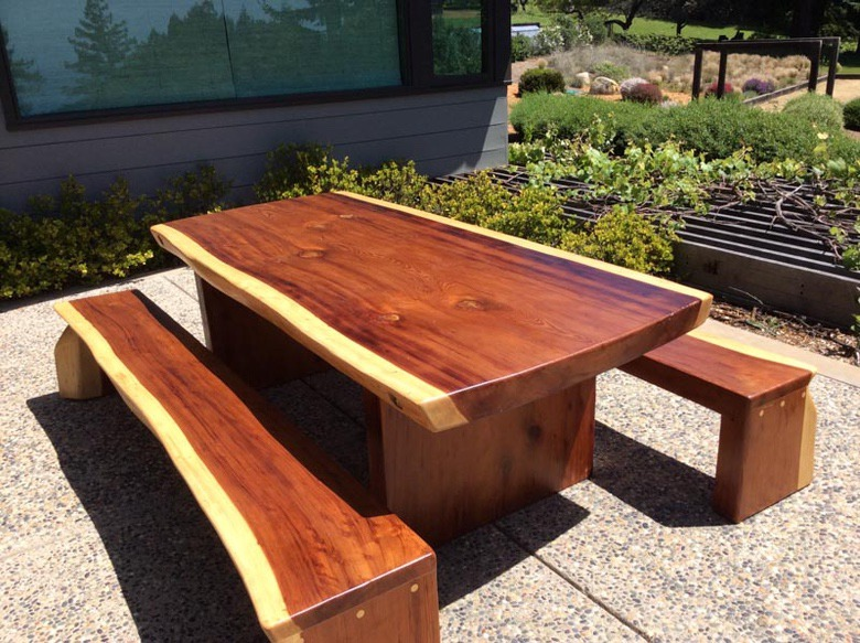 Out of the Woods: Slab Table and Benches, Ron Garcia