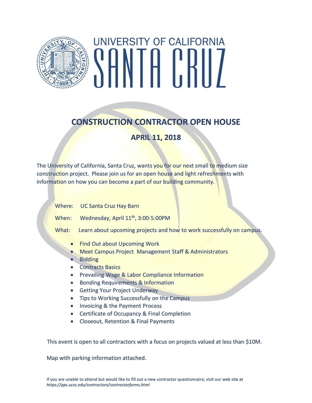 UCSC Open House Flyer