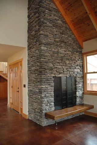 Dovetail Construction: fireplace