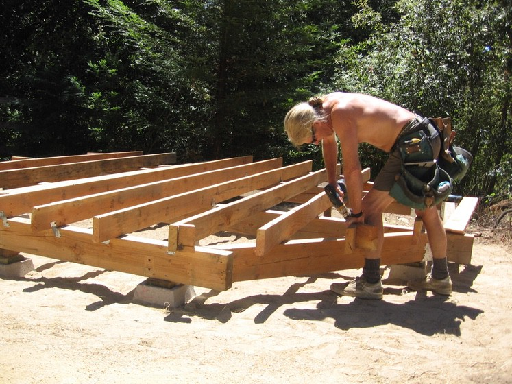 Ray Newkirk Outside the Box Builders: Yurt deck framing