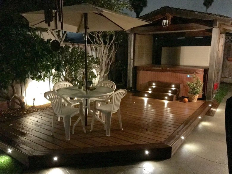 Mazzei Construction Deck In Use At Night