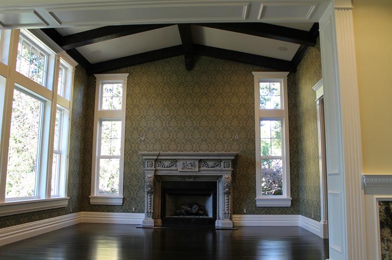Meschi Construction Inc.: living room fireplace