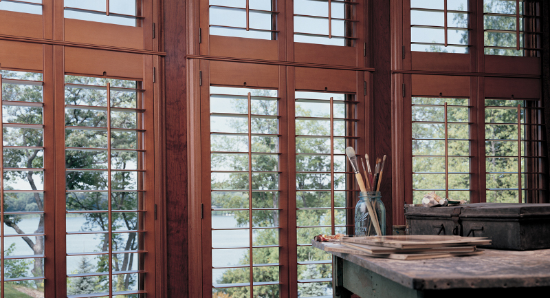 Advanced Blind & Shade Stained Wood Shutters